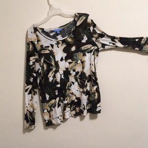 Simply Vera Wang Abstract Floral Shirt XL
